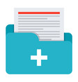 medical files icon vector image vector image