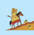 mexican rides uphill vector image vector image