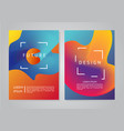 minimal backgrounds set abstract future forms vector image