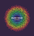 music poster background with dynamic waves vector image vector image