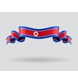 North Korean wavy flag vector image vector image