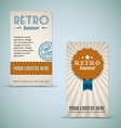 Old retro vintage grunge cards vector image vector image