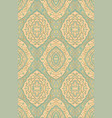 oriental blue and beige ornament vector image vector image