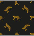 pattern leopards vector image vector image