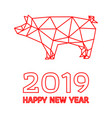 polygonal pig design for chinese new year vector image vector image
