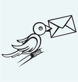 Postal pigeon vector image vector image