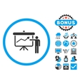 Project Presentation Flat Icon with Bonus vector image vector image