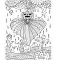 pumpkin ghost vector image vector image
