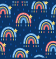 rainbow seamless pattern vector image