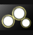 round frames with yellow light on black background vector image vector image