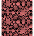 Seamless black lace pattern on red background vector image vector image