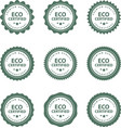 set hand drawn eco frendly labels vector image vector image