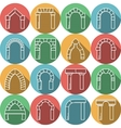Set of colored flat icons for archway vector image vector image