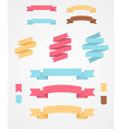 Set of Flat Ribbons vector image vector image