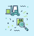set of icons infographics on logistics vector image