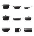 Set of kitchenware icons vector image vector image