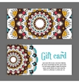 set templates gift cards with color ornament vector image vector image