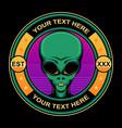 simple alien logo vector image