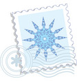 snowflake stamp vector image vector image