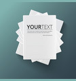stack blank books top view vector image