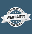 warranty ribbon warranty round white sign warranty vector image vector image