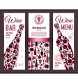 Wine bar menu cardBanners set vector image vector image