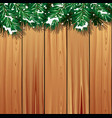 winter scene background vector image