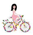 woman bike2 vector image