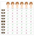 womens sunglasses shapes 4 vector image