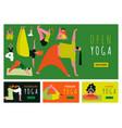 yoga banners set vector image vector image