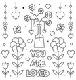 you are loved coloring page vector image vector image