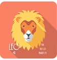 Zodiac sign Leo icon flat design vector image vector image