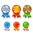 Color Award Medals vector image