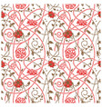 medieval flowers pattern white vector image