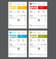 set of four invoice templates vector image