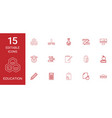 15 education icons vector image vector image