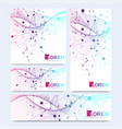 abstract set of modern website banners vector image vector image
