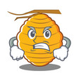 angry bee hive character cartoon vector image vector image