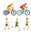 athletic run man people jogging summer vector image vector image