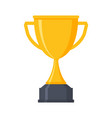 award cup icon trophy award cup gold prize vector image