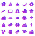 bakery gradient icons on white background vector image