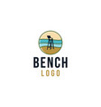 bench on beach beach guard logo designs vector image vector image