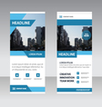 Blue Simple Business Roll Up Banner templates set vector image vector image