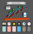 Business idea infographic with icons and charts fl vector image vector image