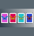 butterfly abstract design cover set vector image