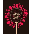 Calligraphic retro style wine list design vector image vector image