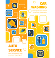 Car Wash Service Vertical Flat Banners vector image vector image