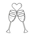champagne glass cartoon vector image
