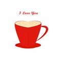 coffee cup valentines day vector image vector image