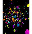 Colorful cubes burst background vector image